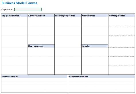 Business Model Canvas Uitwerken In Excel Managementmodellensite Business Model Canvas Excel