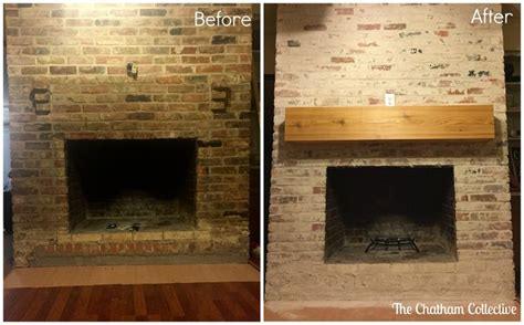 how to mortar wash german smear a brick fireplace updated may 2016 fixer