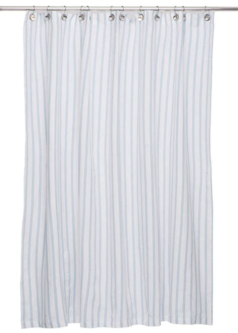 light blue shower curtain thin stripe shower curtain in light blue design by igh