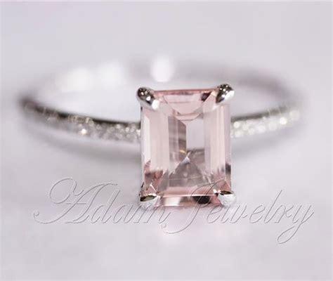 Pink Morganite 4 93ct Pink Emerald pink emerald cut vs morganite ring si h diamonds wedding