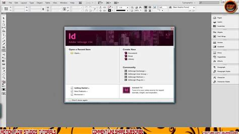 How To Create A Template In Adobe Indesign Youtube Adobe Indesign Templates Free