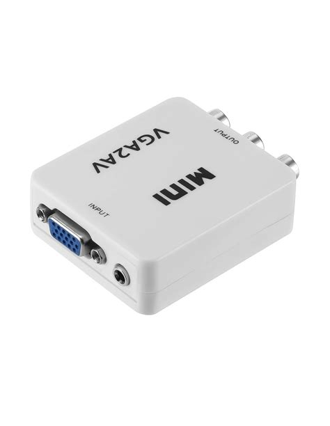 Conversor PC VGA para AV / TV / RCA 1080P com Áudio Jack 3.5mm