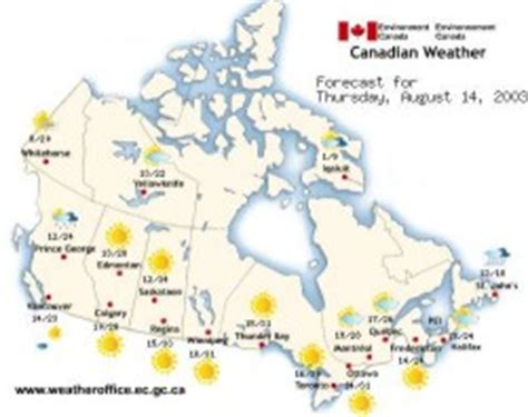 canada weather forecast map environment and climate change canada weather and