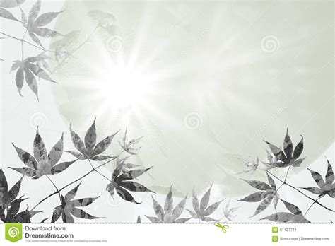 maple leaves and rays of hope sympathy background design