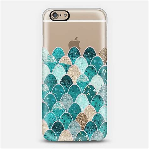 Casing Custom Iphone6 mermaid scales iphone6 transparent mermaid scales