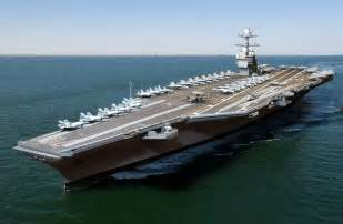 aircraft carrier gerald r ford reaches 75 percent