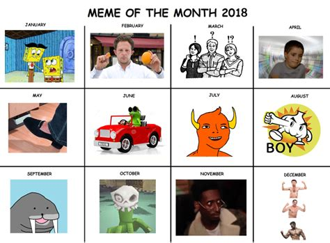 Meme Calendar - me irl s meme calendar for the year has been leaked