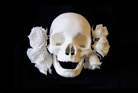 goldie lost tribes goldie quot lost tribes quot metal 3d print of skull and roses