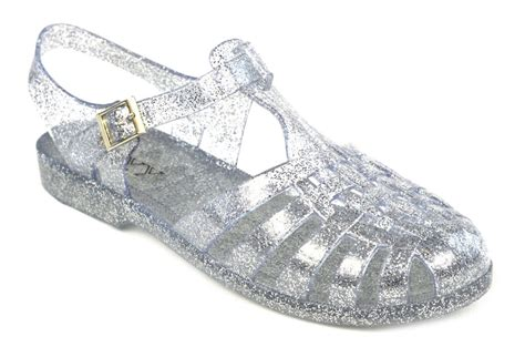 womens jelly sandal flat summer retro