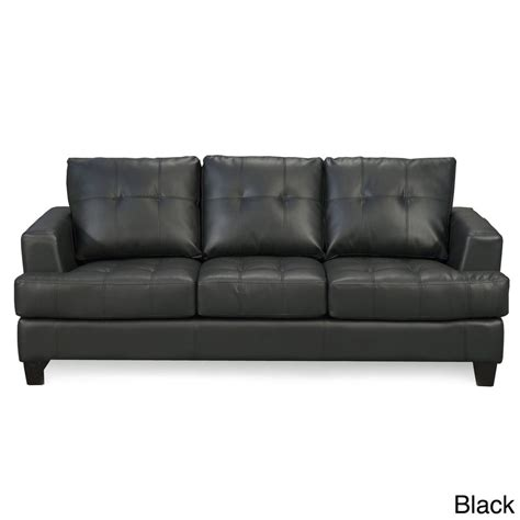 couch leather coaster company samuel contemporary bonded leather sofa ebay