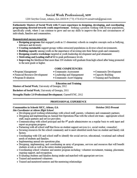social worker resume sle templates summary resourceful social worker resume sle