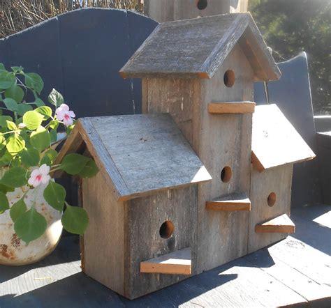 sale barnwood birdhouse barn wood 4 plex bird house
