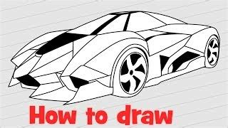 How To Draw A Lamborghini Egoista How To Draw With Tf Antidiary