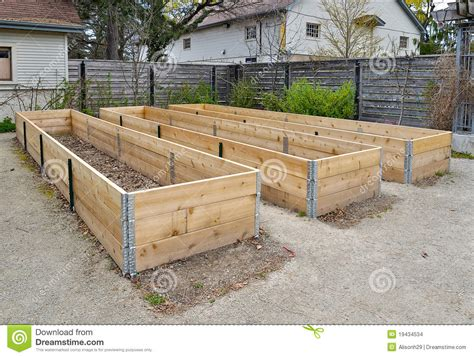 raised flower bed plans raised flower beds stock photo image of beds mulch 19434534