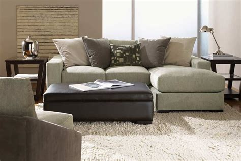 retro style living room with small sectional sofa chaise