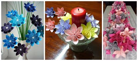 12 hermosos centros de mesa con flores de papel en origami solountip