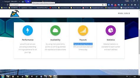 bitcoin gold pool bitcoin gold mining pools btg youtube