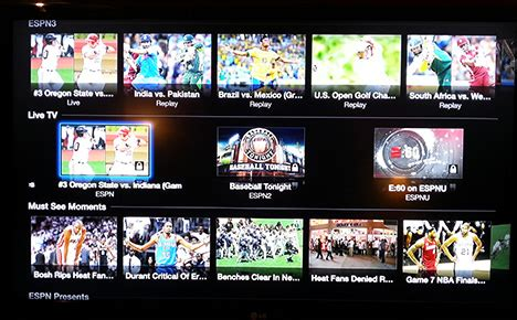 watchespn app now available on apple tv sports geekery