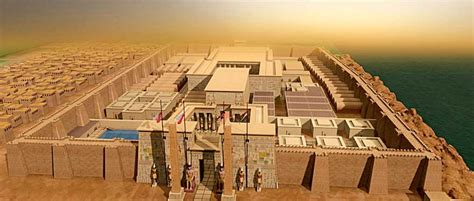 Egyptian Wall Mural 3d reconstruction of luxor temple