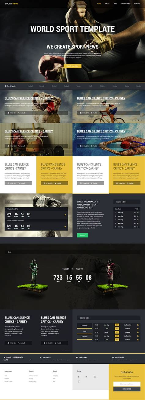 news section website design 13 best images about web design sports on pinterest