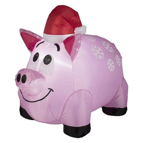 pink christmas pig outdoor decoration 4 pig barnyard themed from kmart