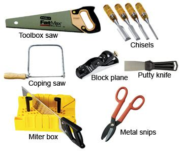 woodwork wood cutting tools list  plans
