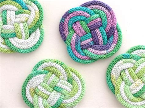 what can i knit knitted knotted coasters my poppet makes