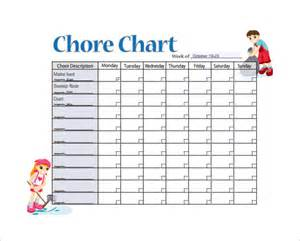 weekly chore chart template 11 sle weekly chore chart template free sle