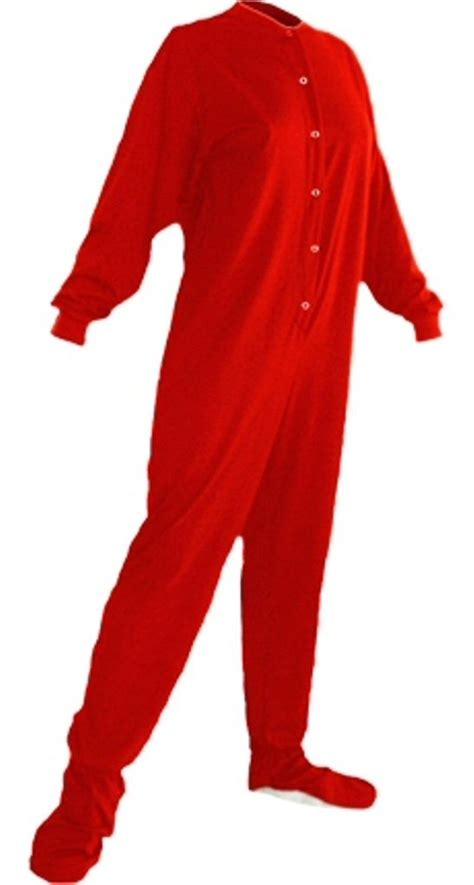 drop seat footed pajamas for adults jersey knit footed pajamas footie drop seat new
