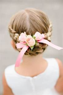 Easy Updos For Little Girl 2018 Wedding Party Hairstyles