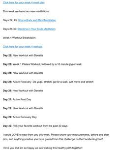 3 Day Detox Meal Plan Danette May by Week 1 Details Danette May 30 Day Challenge