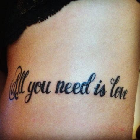 tattoo love is all you need my new tattoo all you need is love tattoo ideas