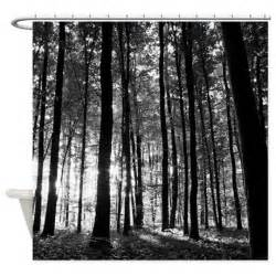 black and white forest shower curtain by creativeconceptz