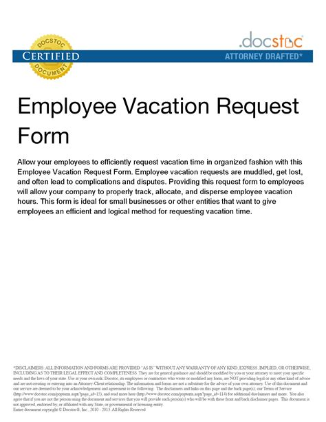 Business Letter Vacation Request best photos of vacation leave request letter vacation