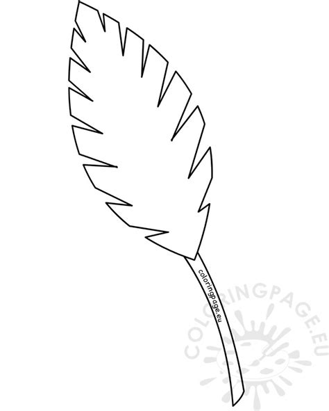 Palm Sunday Template palm leaf outline palm sunday coloring page