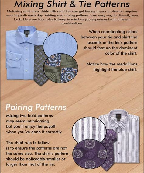 tie shirt pattern rules 7 essential style rules for men infographics stylefrizz