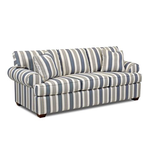 Lady Striped Sofa Klaussner Furniture Sofas Sofas Striped Striped Sofas Living Room Furniture