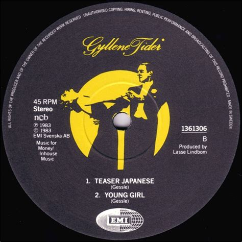 Label We 2 by Gyllene Tider Discography 12 Quot Teaser Japanese