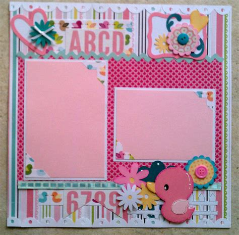 scrapbook layout baby girl baby girl toddler premade scrapbook layout page