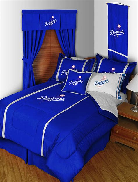 dodgers bed set 4pc mlb los angeles dodgers twin comforter bedding set ebay