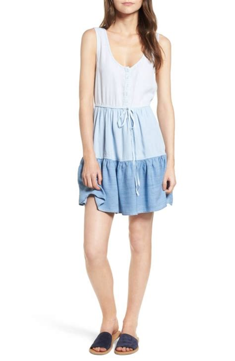 Noelle Flare Dress summer denim steals to add to your closet now flare