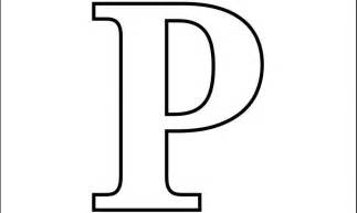 Letter P Template by Letter P Crafts To Do With