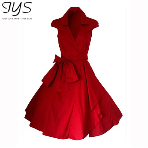 red swing dress vintage 2015 summer style red rockabilly evening retro vintage