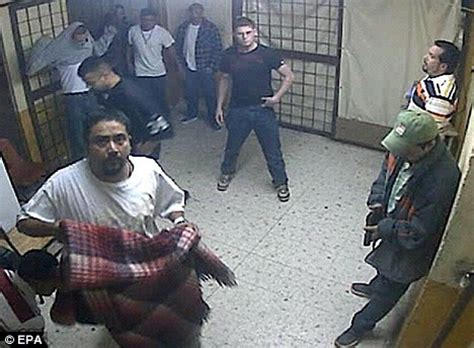 is this the most orderly prison break ever? bizarre cctv