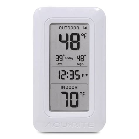 acurite wireless digital weather thermometer 00826hd the home depot