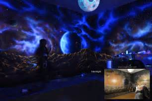 when the lights go out my glowing murals turn these rooms gallery for gt glow in the dark wall murals