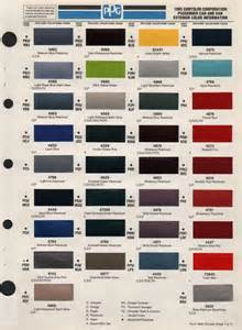 Chrysler Color Codes Paint Chips 1995 Chrysler Acclaim