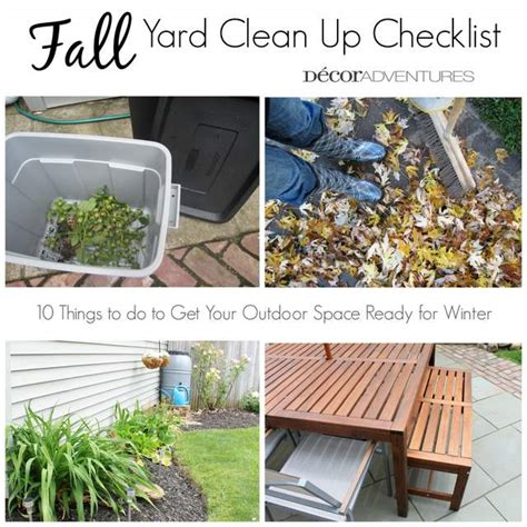 triyae fall backyard cleanup various design