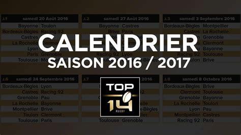 Calendrier Pro D2 Top 14 Le Calendrier De La Saison 16 17 Lnr