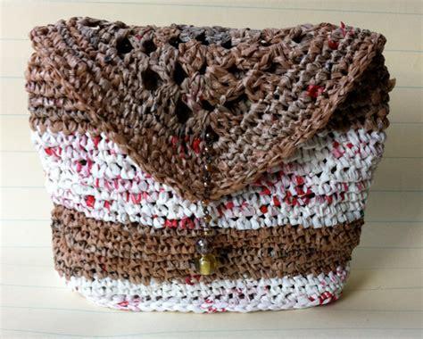 crochet pattern purse organizer plarn crochet pocket bag purse drop in organizer